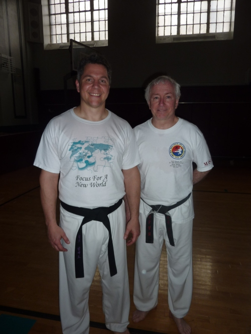 Mr. Rocco Lombardo- 6th Degree Black Belt and Headmaster, Dr. Micheal T. Dealy-9th Degree Black Belt